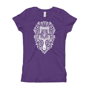 Choose Peace Love and Kindness - Brush - Purple Girl's T-Shirt - Chady Elias