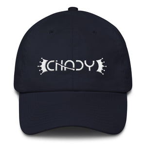 CHADY White on Navy Cotton Cap - Chady Elias