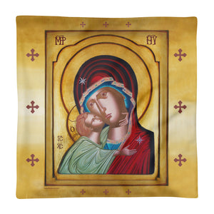Our Lady of Tenderness - The Sweet Kissing - Square Pillow Case only - Chady Elias