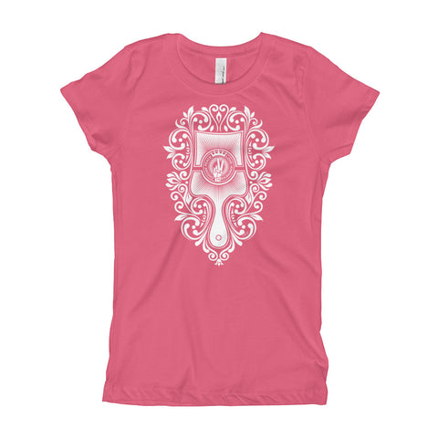Choose Peace Love and Kindness - Brush - Hot Pink Girl's T-Shirt - Chady Elias