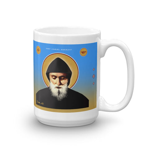 Saint Charbel Mug - 11oz - made in the USA - Chady Elias