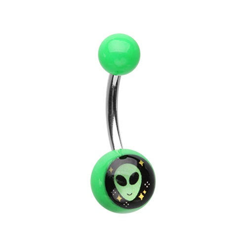 Acrylic Alien Belly Ring