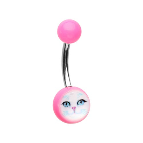 Acrylic Kitty Cat Belly Ring
