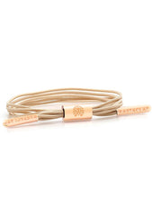 Maya Women's Multi Lace Bracelet in Nude/Rose Gold