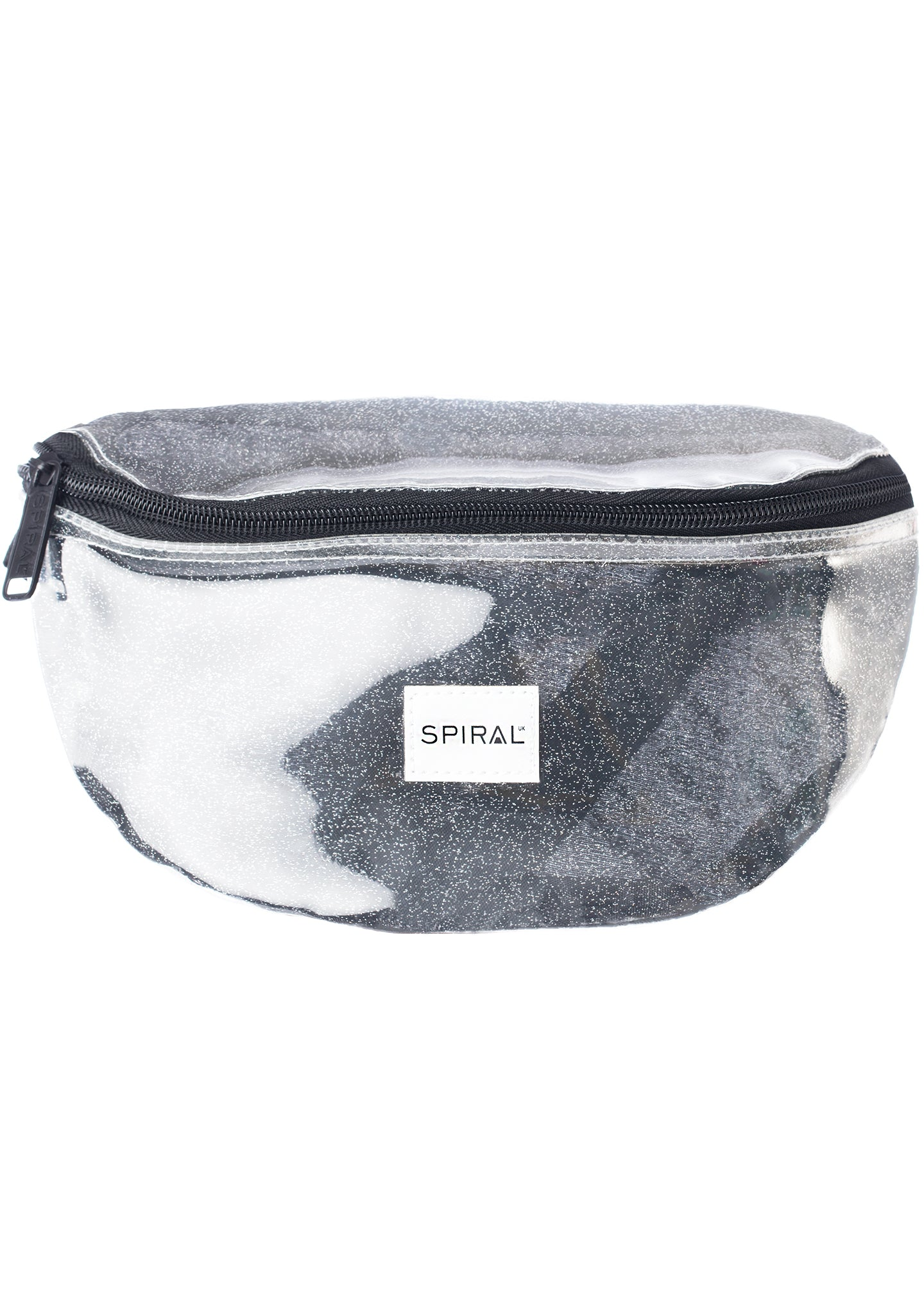 See Thru Sparkle Bum Bag in Silver