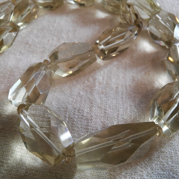 Sparkling Clear Glass Necklace - Yana Dee