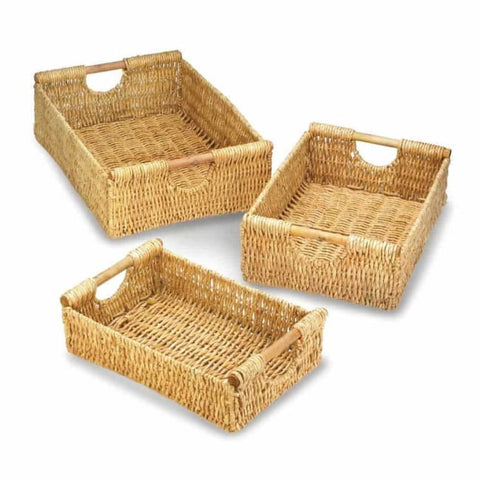 Maize Nesting Basket Set Wicker Baskets