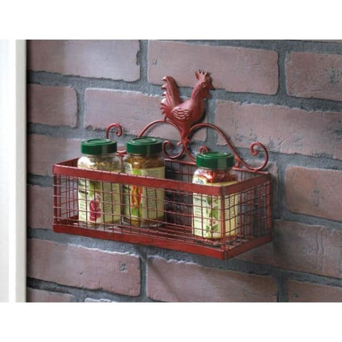 Red Rooster Single Wall Rack Kitchen & Dining