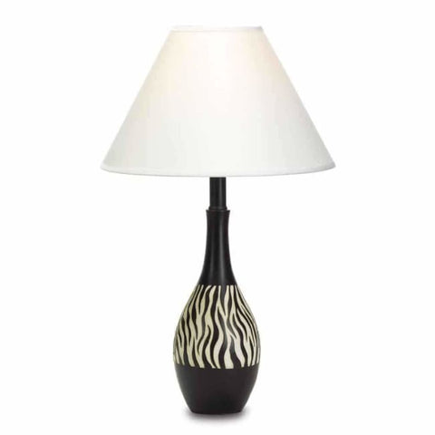 Zebra Stripe Lamp Lighting > Table Lamp