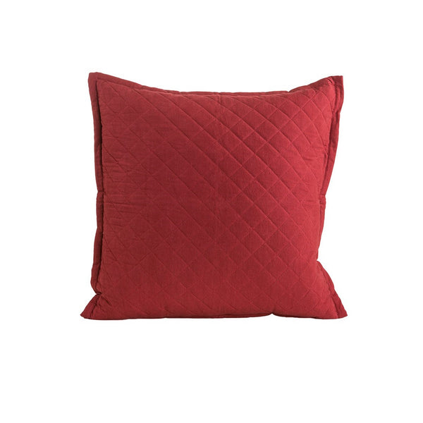 "Farmhouse Quilted Red Pillow 22"" x 22"""
