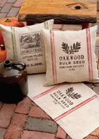 "Seed Labels Oakwood Pillow 18"" x 18"""