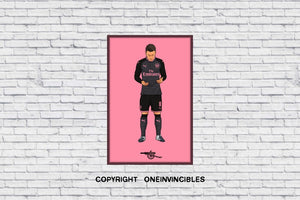 Mesut Ozil Prayer In Pink Wall Print A4