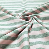 Pink and Heather Gray - Yarn dyed stripes