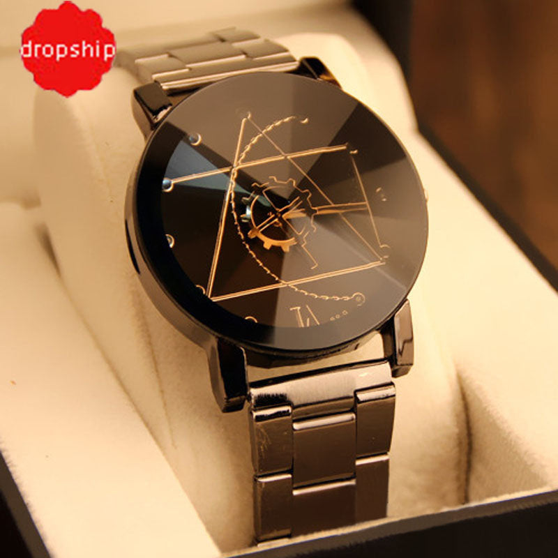 Fashion Stainless Steel Quartz Analog Wrist Watch