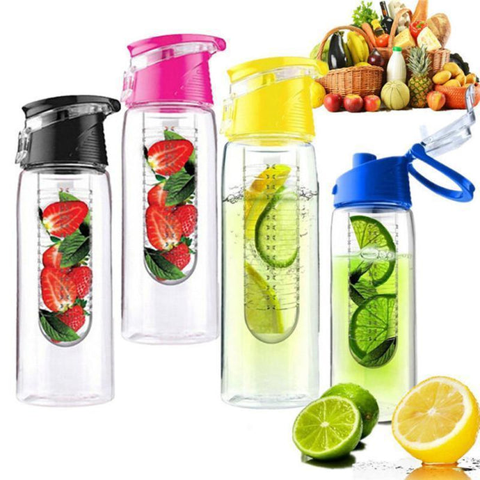 800ml Fruit Infusing Water Bottle with a Flip Lid - And Above All...YOGA