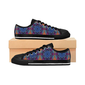 """Blue Mandala"" Deluxe Women's Sneakers - And Above All...YOGA"