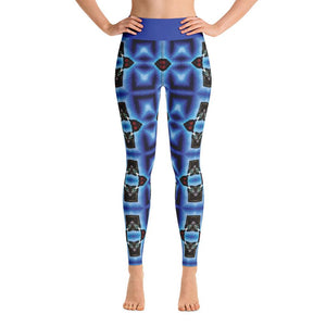 """Blue Masks"" Deluxe Made to Order Yoga Pants - And Above All...YOGA"