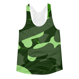 """Camouflage"" Women's Racerback Tank Top - And Above All...YOGA"