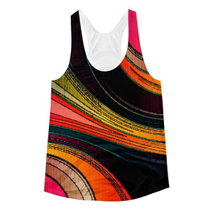 """Color Swirl"" Women's Racerback Tank Top - And Above All...YOGA"