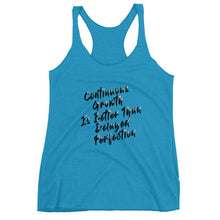 """Continuous Growth"" Tri-Blend Women's Racerback Tank Top - And Above All...YOGA"