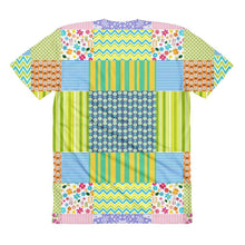 """Crazy Quilt"" Women's Crew Neck T-Shirt - And Above All...YOGA"