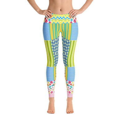 """Crazy Quilt"" Yoga Pants - And Above All...YOGA"