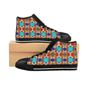 """Dancing Dragons"" Deluxe Women's High-top Sneakers - And Above All...YOGA"