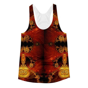 """Enigmatic"" Women's Racerback Tank Top - And Above All...YOGA"