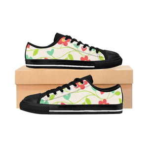"""Fresh Flowers"" Deluxe Women's Sneakers - And Above All...YOGA"