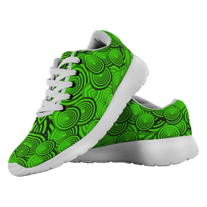 """Green Circles"" Running Shoes - And Above All...YOGA"