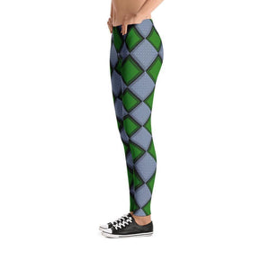 """Harlequin Green"" Yoga Pants - And Above All...YOGA"