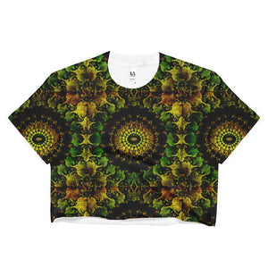 """Mandela"" Women's Crop Top - And Above All...YOGA"