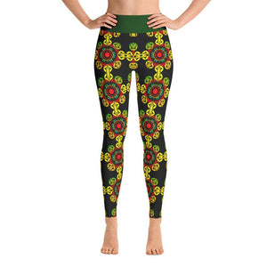 """Meditation Gates"" Deluxe Yoga Pants for Women - And Above All...YOGA"