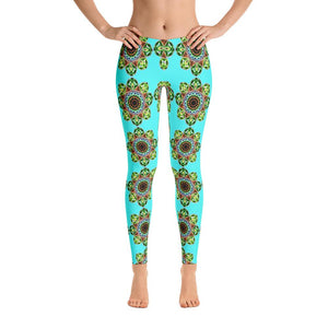 """Meditation Glow"" Standard Yoga Pants - And Above All...YOGA"