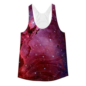 """Nebula"" Women's Racerback Tank Top - And Above All...YOGA"
