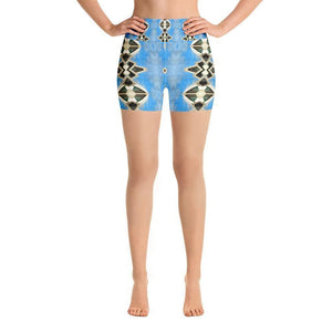 """Opera House Abstract"" Yoga Shorts - And Above All...YOGA"