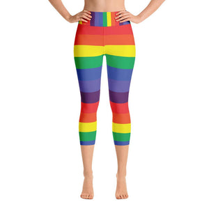 """Rainbow"" Deluxe Capris - And Above All...YOGA"