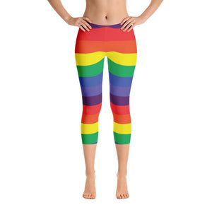 """Rainbow"" Standard Yoga Capris - And Above All...YOGA"