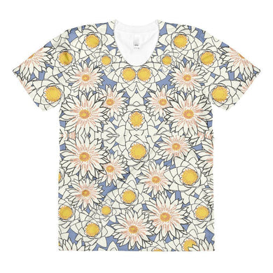 """Spring Petals"" Women's Crew Neck T-Shirt - And Above All...YOGA"