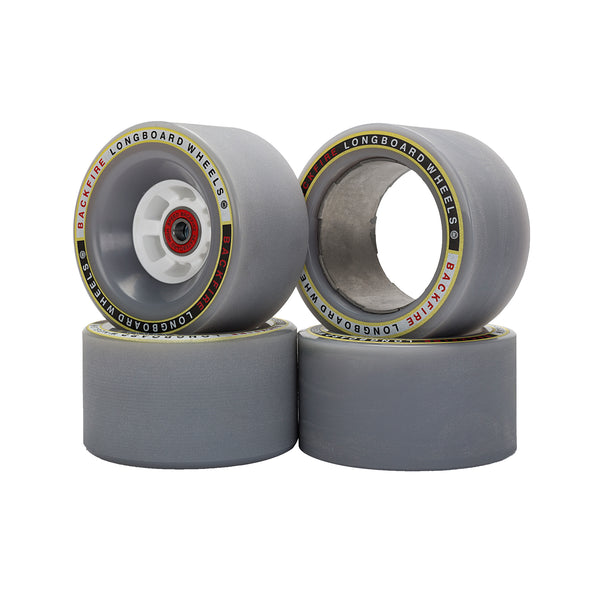 Backfire Bigfoot 96mm Gray Wheels with 4 Pcs of Bearings and 2 Spacer Inside for G2t Only