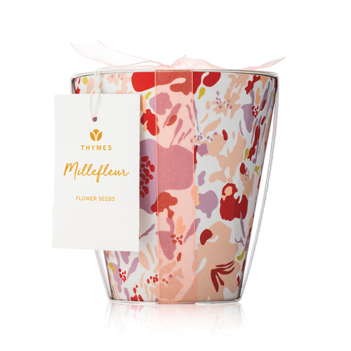 Thymes MILLEFLEUR Candle Flower Pot
