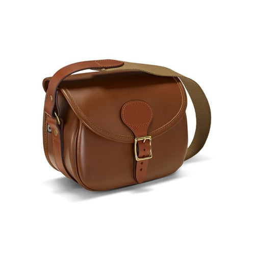 Croots Tan Leather Byland Cartridge Bag