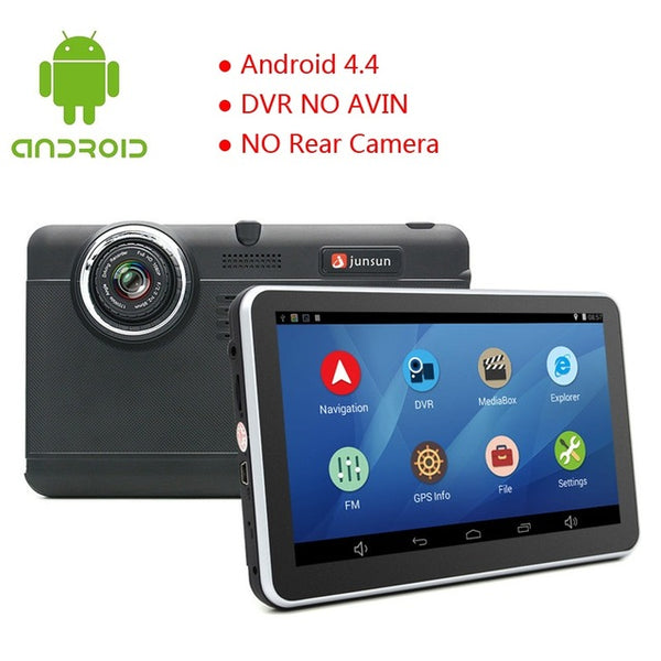 Junsun 7inch Car DVR camera Android GPS Navigation WIFI Bluetooth car video Recorder Registrar Full HD 1080p Automotive dash cam - ZURBEXPRESS