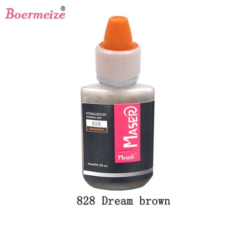 Permanent Makeup Tattoo Inks Optional Pigment Color 10ml for Tattoo Eyebrow Eyeliner Lip Make up Mixed color Art Tattoo Supplies