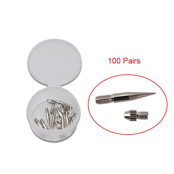 100 Pairs Replaceable Dedicated Needle Cap Thick Needles for Plasma Pen Dot Moles Pen Laser Wart Freckle Tattoo Spot Removal Pen - ZURBEXPRESS