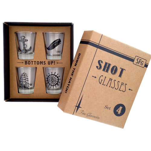 Nautical Shot Glass Set