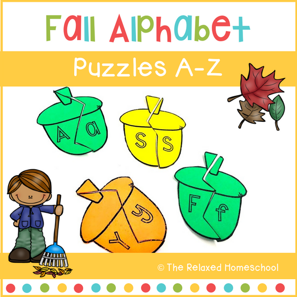 Alphabet Puzzle Activity - Fall Themed
