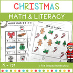 Christmas Math & Literacy - K - 1st