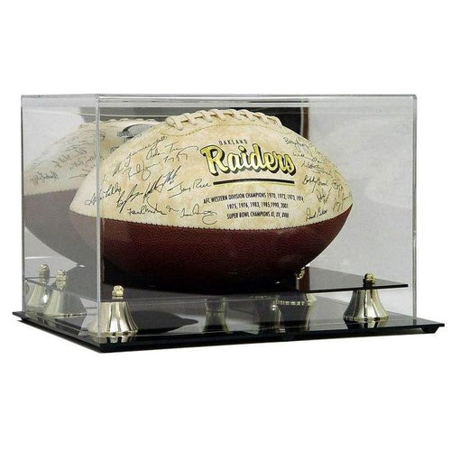 Football Premium Display Case with Wall Mount Option