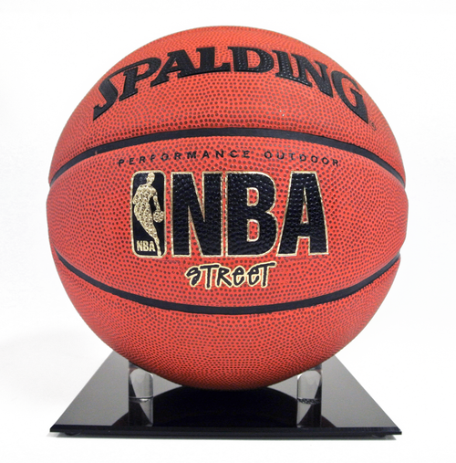 Basketball/Football Stand Acrylic Black Base Two Pack